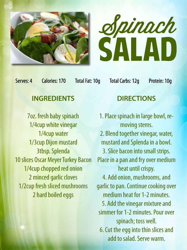 Spinach Salad Recipe Contemporary Health Center